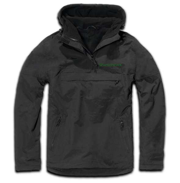 Windbreaker mit Wunschtext - Blockschrift - bestickt - Winterjacke Jacke Stickfarbe: Grün