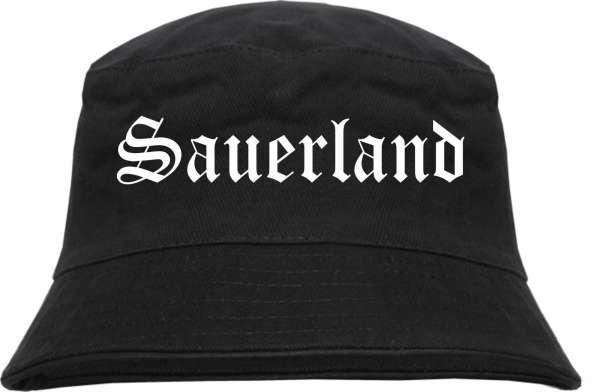 Sauerland Fischerhut - Altdeutsch - bedruckt - Bucket Hat Anglerhut Hut
