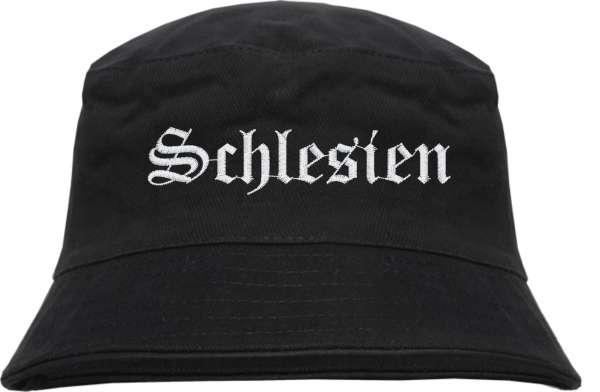 Schlesien Fischerhut - Altdeutsch - bestickt - Bucket Hat Anglerhut Hut