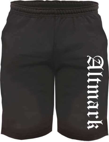 Altmark Sweatshorts - Altdeutsch bedruckt - Kurze Hose Shorts
