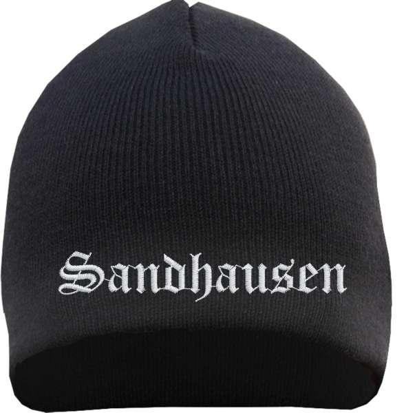 Sandhausen Beanie Mütze - Altdeutsch - Bestickt - Strickmütze Wintermütze