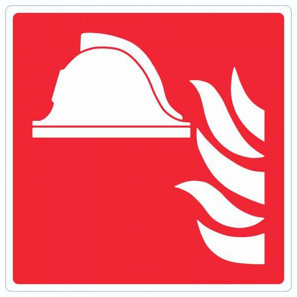 Mittel und Geräte zur Brandbekämpfung Aufkleber Quadrat