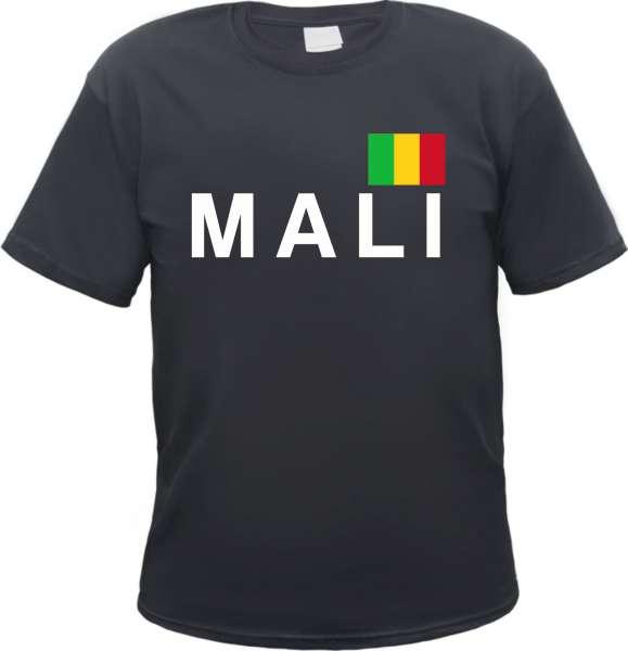 Mali Herren T-Shirt - Blockschrift mit Flagge - Tee Shirt