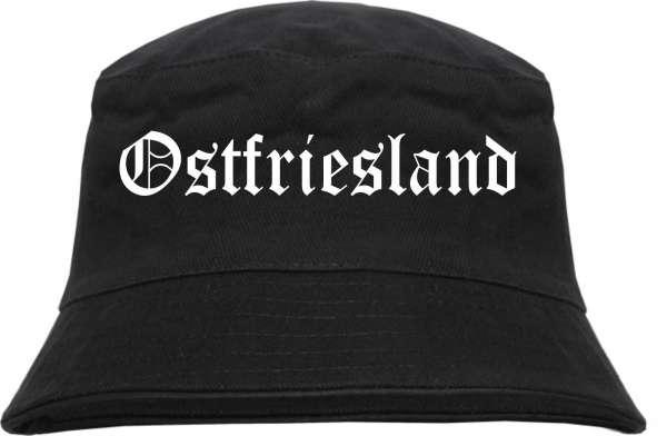 Ostfriesland Fischerhut - Altdeutsch - bedruckt - Bucket Hat Anglerhut Hut