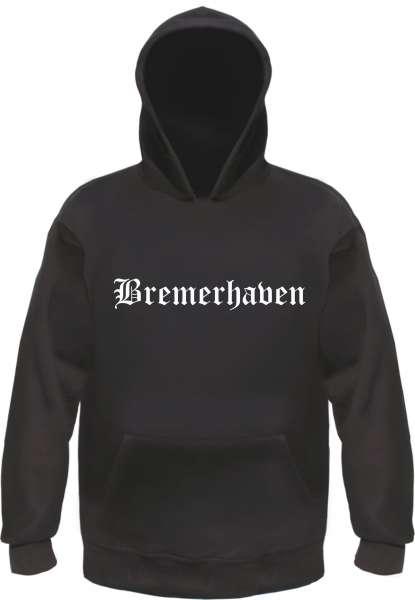 Bremerhaven Kapuzensweatshirt - Altdeutsch bedruckt - Hoodie Kapuzenpullover