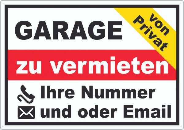 Garage zu vermieten von privat Aufkleber