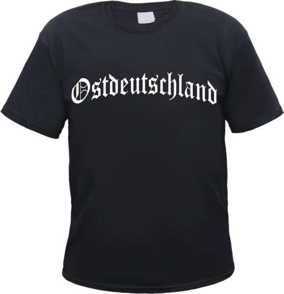 Ostdeutschland T-Shirt - Altdeutsch - Druckfarbe Weiss - Tee Shirt