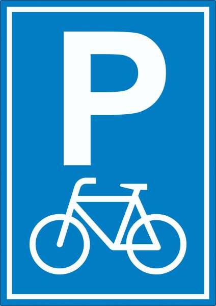 Fahrrad Parkplatz Räder Abstellplatz Aufkleber