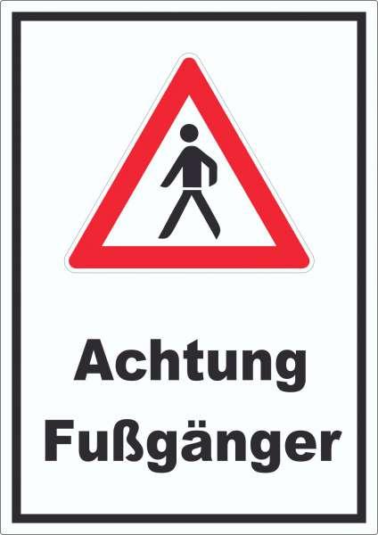 Achtung Fußgänger Aufkleber