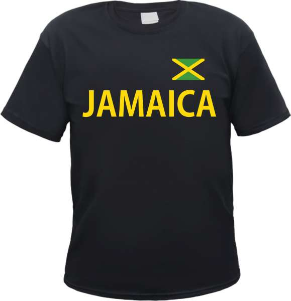 Jamaica Herren T-Shirt mit Flagge Jamaika