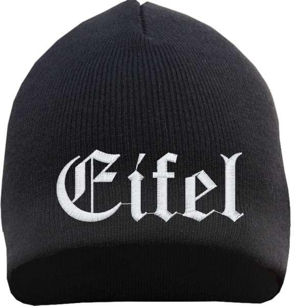 Eifel Beanie Mütze - Altdeutsch - Bestickt - Strickmütze Wintermütze