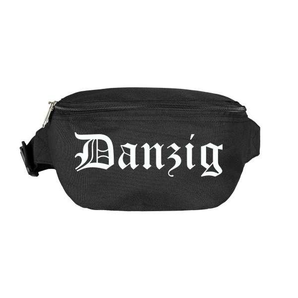 Danzig Bauchtasche - Altdeutsch bedruckt - Gürteltasche Hipbag