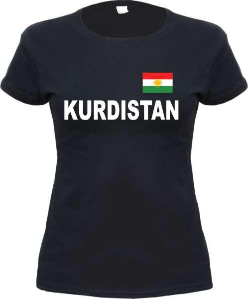KURDISTAN Damen T-Shirt mit Flagge