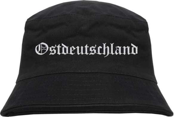 Ostdeutschland Fischerhut - Altdeutsch - bestickt - Bucket Hat Anglerhut Hut
