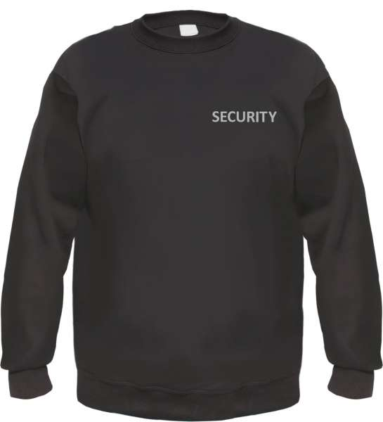 Security Sweatshirt Pullover Druck: Reflektierend