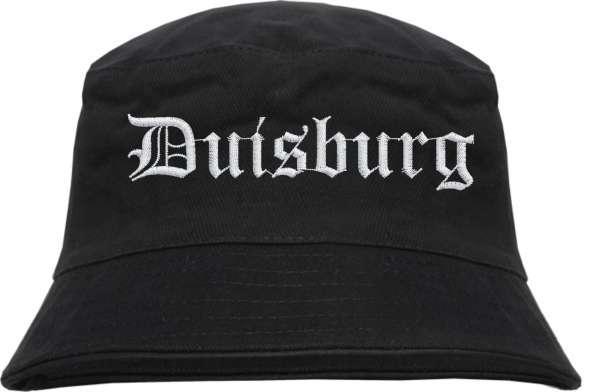 Duisburg Fischerhut - Altdeutsch - bestickt - Bucket Hat Anglerhut Hut