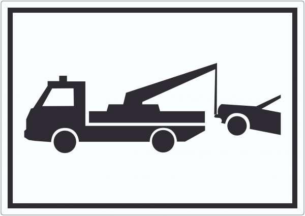 Widerrechtlich abgestellte Fahrzeuge Symbol Aufkleber