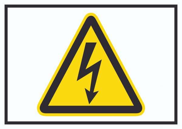 Vorsicht Elektrische Spannung Symbol Schild