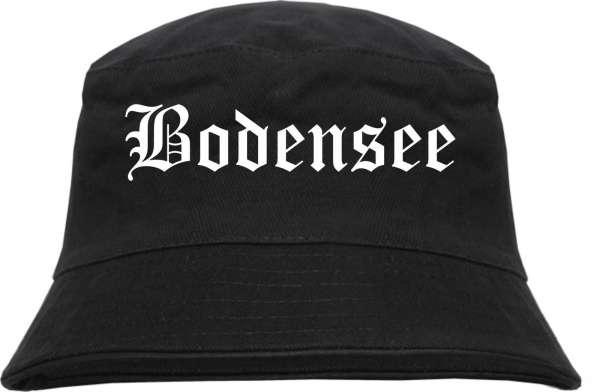 Bodensee Fischerhut - Altdeutsch - bedruckt - Bucket Hat Anglerhut Hut