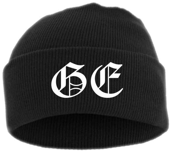GE - Gelsenkirchen Umschlagmütze - Bestickt - Mütze mit breitem Umschlag