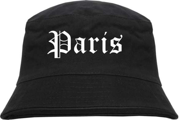 Paris Fischerhut - Altdeutsch - bedruckt - Bucket Hat Anglerhut Hut