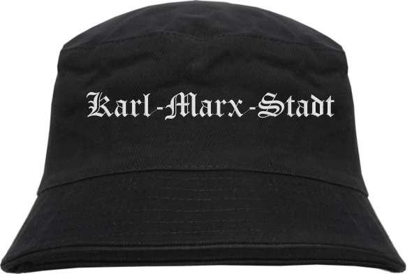 Karl-Marx-Stadt Fischerhut - Altdeutsch - bestickt - Bucket Hat Anglerhut Hut Anglerhut Hut