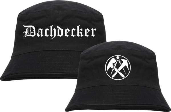 Dachdecker Fischerhut - Altdeutsch - bedruckt - Bucket Hat Anglerhut Hut