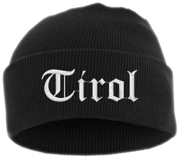 Tirol Umschlagmütze - Altdeutsch - Bestickt - Mütze mit breitem Umschlag