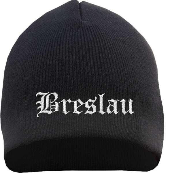 Breslau Beanie Mütze - Altdeutsch - Bestickt - Strickmütze Wintermütze