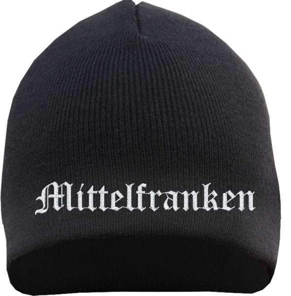 Mittelfranken Beanie Mütze - Altdeutsch - Bestickt - Strickmütze Wintermütze
