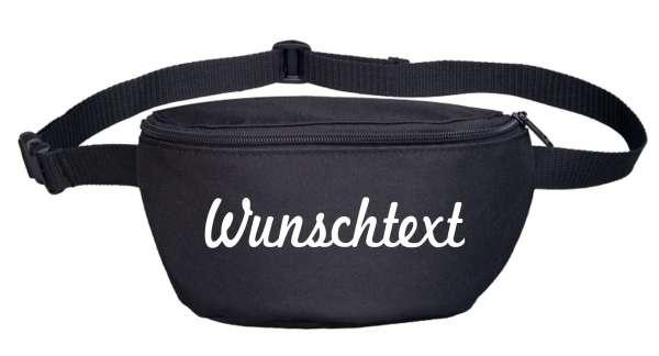 Bauchtasche mit Wunschtext - Schreibschrift - bedruckt - Gürteltasche Hipbag