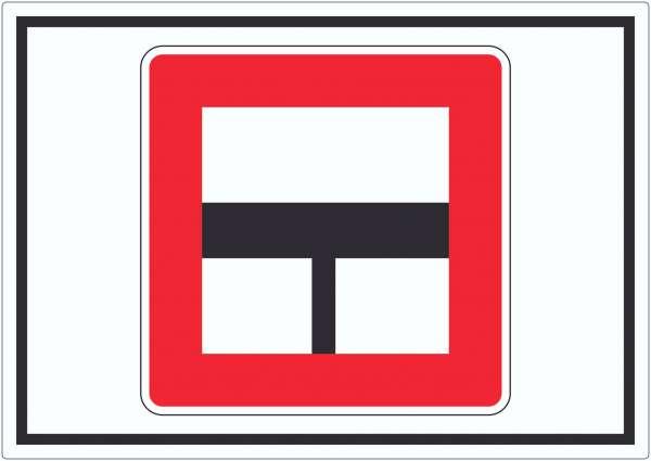 Nur einfahren in die Hauptwasserstraße wenn niemand behindert wird Aufkleber mit Symbol