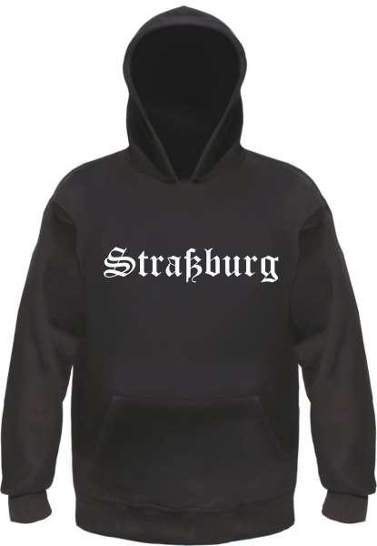 Straßburg Kapuzensweatshirt - Altdeutsch bedruckt - Hoodie Kapuzenpullover