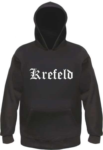 Krefeld Kapuzensweatshirt - Altdeutsch bedruckt - Hoodie Kapuzenpullover