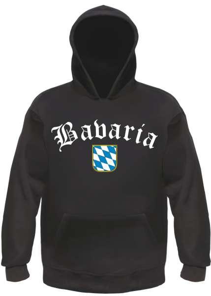 Bavaria Kapuzensweatshirt - Altdeutsch mit Wappen - Hoodie Kapuzenpullover