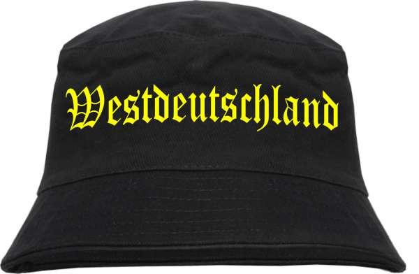 Westdeutschland Fischerhut - Druckfarbe Gelb - Bucket Hat