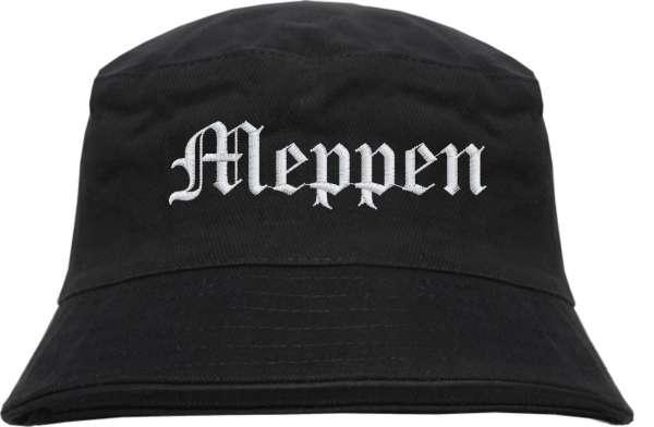 Meppen Fischerhut - Altdeutsch - bestickt - Bucket Hat Anglerhut Hut