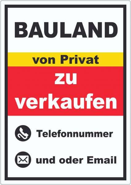 Bauland zu verkaufen von Privat Hochkant Aufkleber