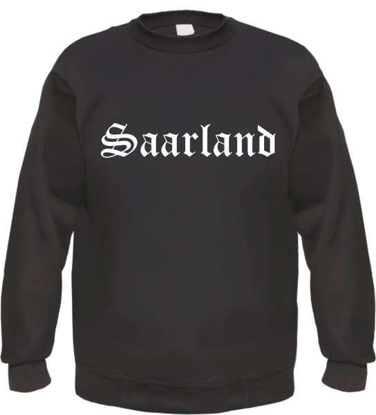 Saarland Sweatshirt - Altdeutsch - bedruckt - Pullover