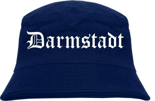 Darmstadt Fischerhut - Dunkelblau - Altdeutsch - bedruckt - Bucket Hat Anglerhut Hut