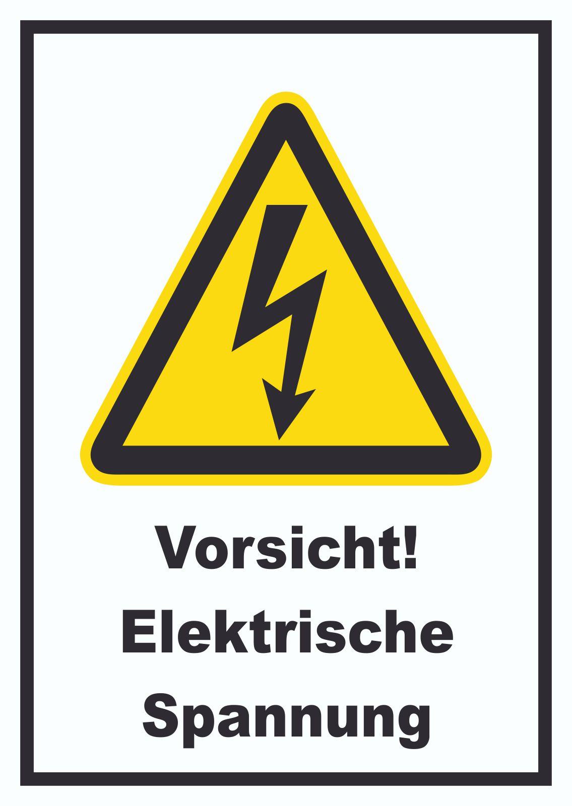 Vorsicht Elektrische Spannung Aufkleber