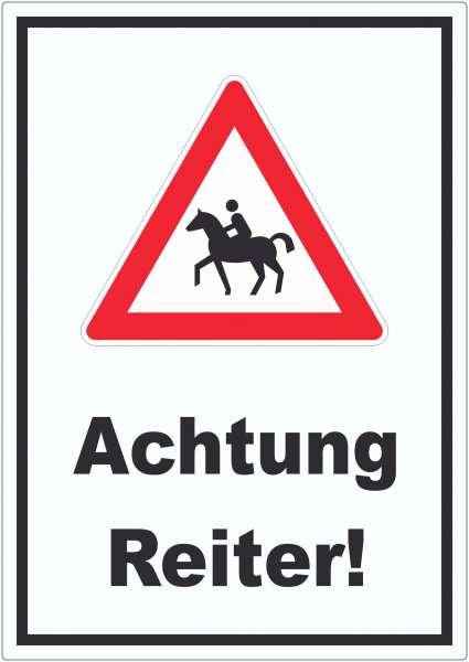 Achtung Reiter Aufkleber