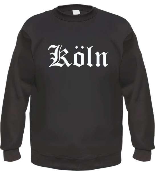 Köln Sweatshirt - Altdeutsch - bedruckt - Pullover - schwarz -