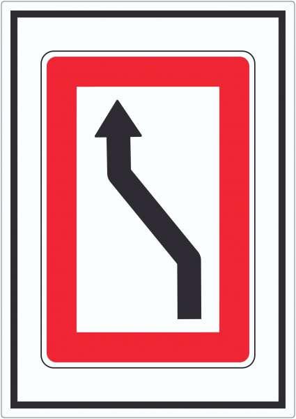 Wechsel auf die Fahrwasserseite Backbordseite Symbol Aufkleber