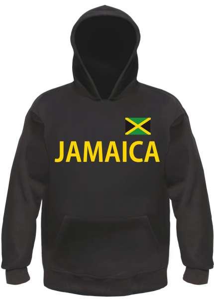 Jamaica Kapuzensweatshirt - bedruckt mit Flagge - Hoodie Kapuzenpullover