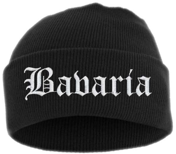 Bavaria Umschlagmütze - Altdeutsch - Bestickt - Mütze mit breitem Umschlag
