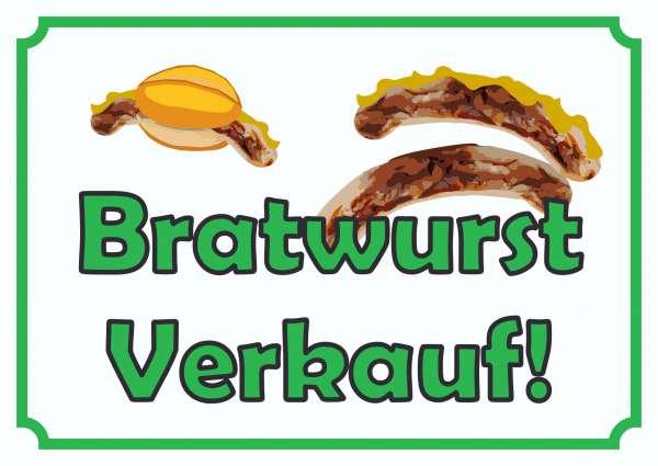 Bratwurst Verkaufsschild Schild