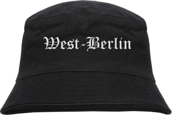 West-Berlin Fischerhut - Altdeutsch - bestickt - Bucket Hat Anglerhut Hut Anglerhut Hut