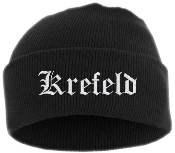 Krefeld Umschlagmütze - Altdeutsch - Bestickt - Mütze mit breitem Umschlag