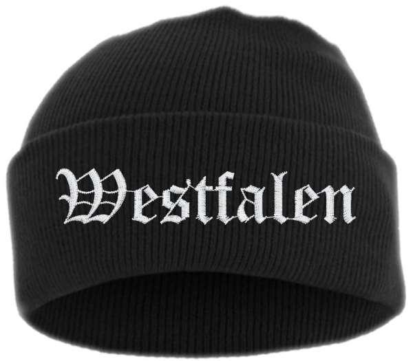 Westfalen Umschlagmütze - Altdeutsch - Bestickt - Mütze mit breitem Umschlag
